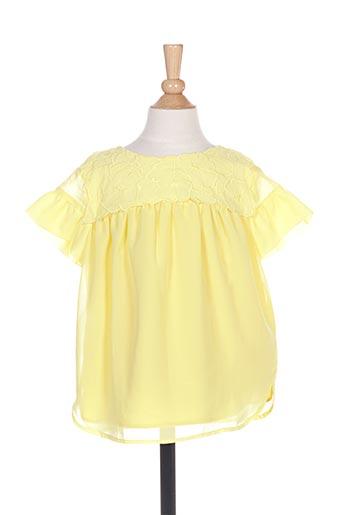 Blouse manches courtes jaune MAYORAL pour fille