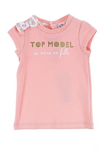 T-shirt manches courtes rose BULLE DE BB pour fille