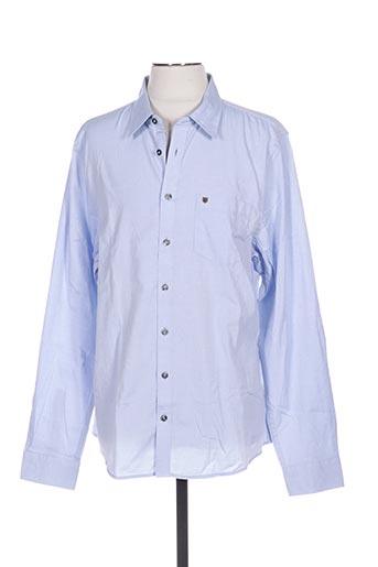 Chemise manches longues bleu DUBARRY pour homme