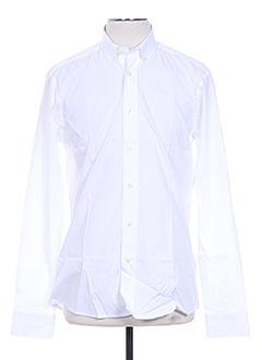 Chemise manches longues blanc HENRI LLOYD pour homme