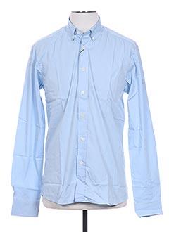 Chemise manches longues bleu HENRI LLOYD pour homme