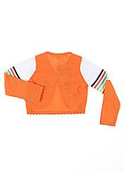Gilet manches longues orange TUC TUC pour fille seconde vue