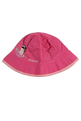 Chapeau rose REEBOK pour fille