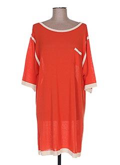 Robe pull orange RODIKA pour femme