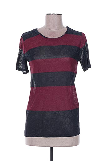 Pull col rond rouge BEL AIR pour femme