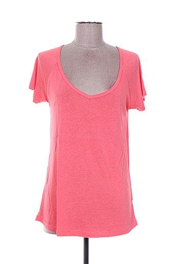 T-shirt manches courtes rose BEL AIR pour femme