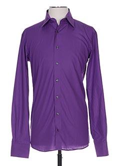 Chemise manches longues violet ETERNA pour homme