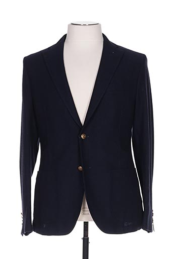 Veste chic / Blazer bleu MANUEL RITZ pour homme