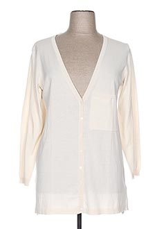Gilet manches longues beige NICE THINGS pour femme
