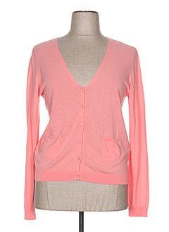 Gilet manches longues rose NICE THINGS pour femme