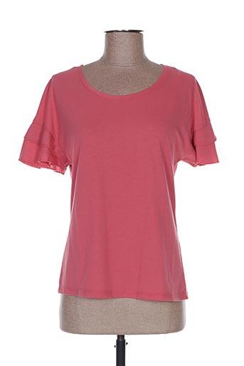 T-shirt manches courtes rose CACHE CACHE pour femme