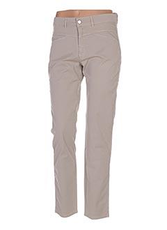 Pantalon casual beige ONE STEP pour femme