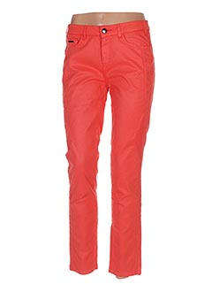 Pantalon casual orange ONE STEP pour femme