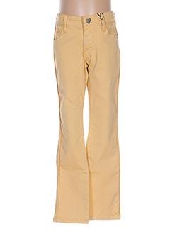 Pantalon casual jaune IKKS pour fille