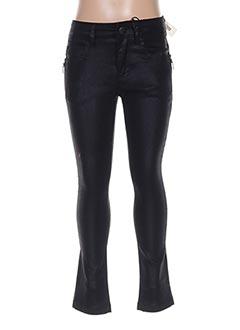 Pantalon casual noir IKKS pour fille