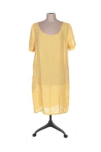 Robe mi-longue jaune CROSSLEY pour femme