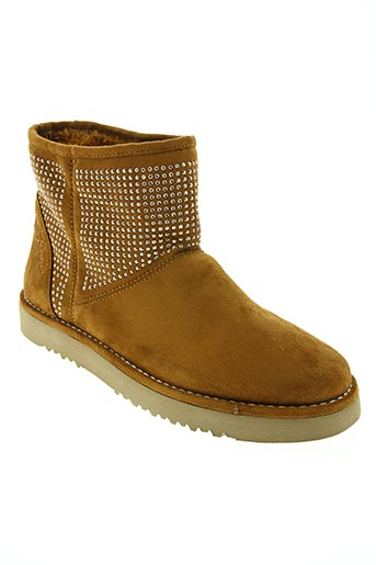 Bottines/Boots marron CAFE NOIR pour femme