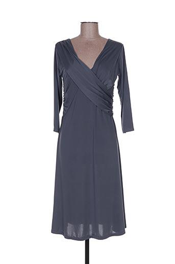 Robe mi-longue gris ELÉGANCE MISS pour femme
