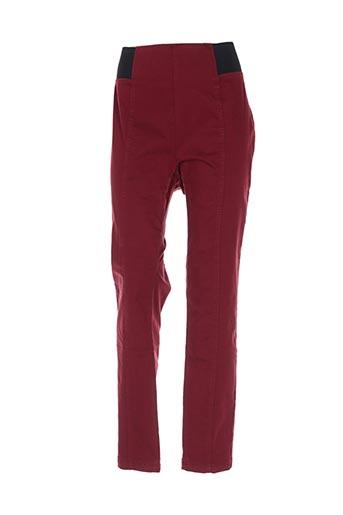 Pantalon casual rouge CARMEN pour femme