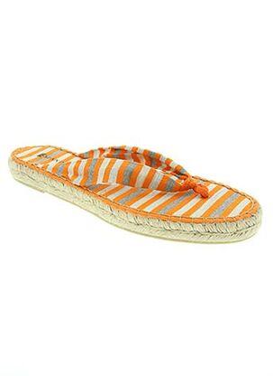 Tongs orange ESPANILLAS pour femme