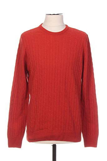 Pull col rond rouge STOZZI ADRIANO pour homme
