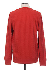 Pull col rond rouge STOZZI ADRIANO pour homme seconde vue