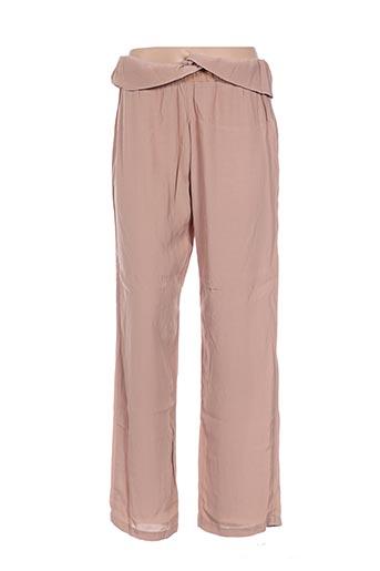 Pantalon casual beige EMA TESSE pour femme