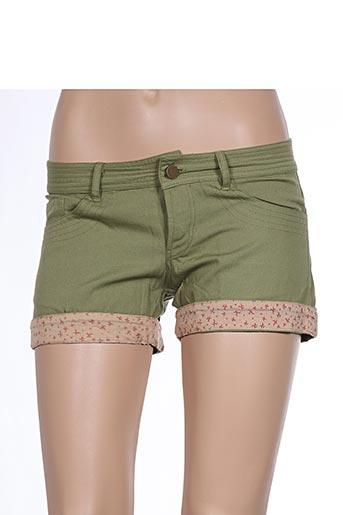Short vert EMA TESSE pour femme