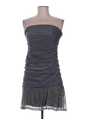 Robe courte gris EMA TESSE pour femme