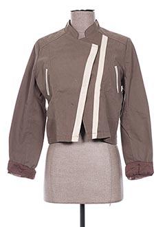 Veste casual marron EMA TESSE pour femme