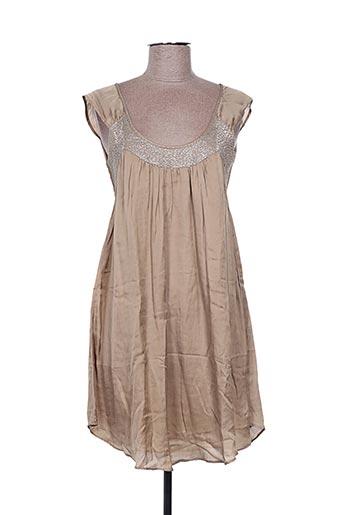 Robe courte marron EMA TESSE pour femme