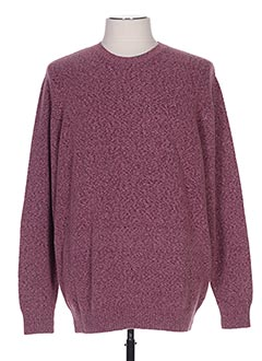 Pull col rond rose SERGE BLANCO pour homme