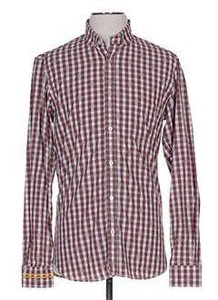 Chemise manches longues rouge SERGE BLANCO pour homme