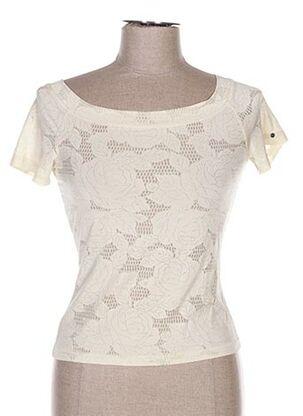 T-shirt manches courtes beige ETINCELLE pour femme