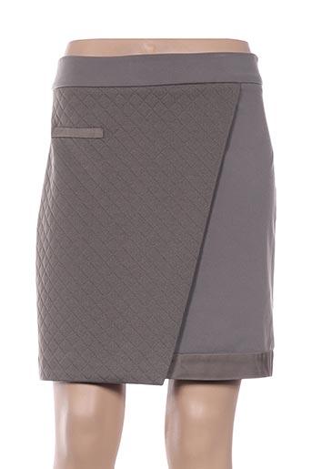 Jupe courte vert MISS CAPTAIN pour femme