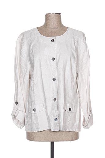 Veste casual gris THALASSA pour femme