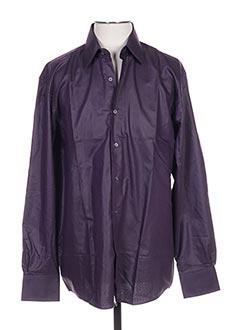 Chemise manches longues violet PIERRE CARDIN pour homme