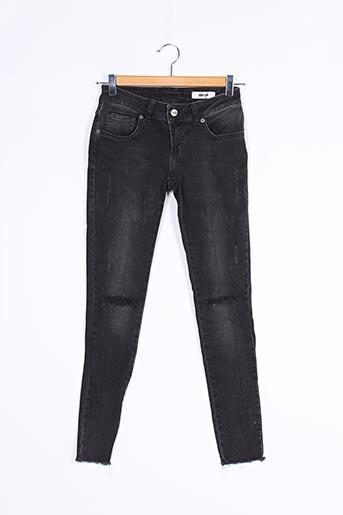 Jeans coupe slim noir ANINE BING pour femme