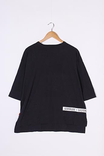 T-shirt manches courtes noir GERTRUDE + GASTON pour homme