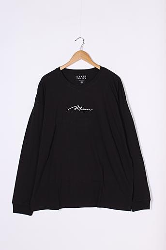 T-shirt manches longues noir BOOHOO pour homme
