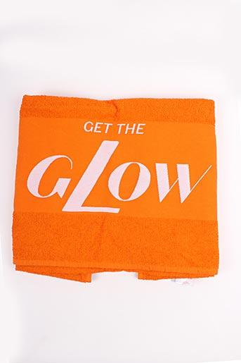 Serviette / gant orange SANS MARQUE pour femme