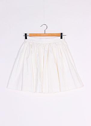 Jupe courte blanc ETAM pour femme