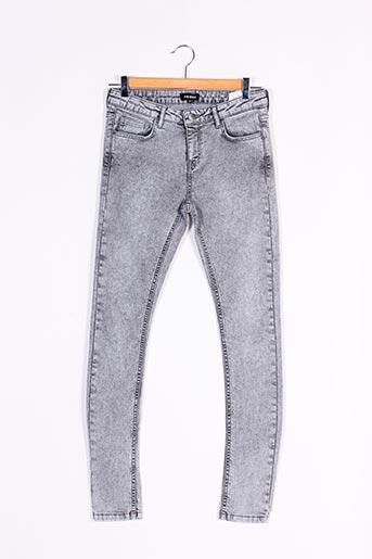 Jeans skinny gris FRIDAY pour femme