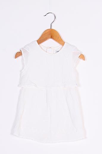 Robe courte blanc IKKS pour fille
