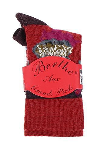 Chaussettes rouge BERTHE AUX GRANDS PIEDS pour enfant