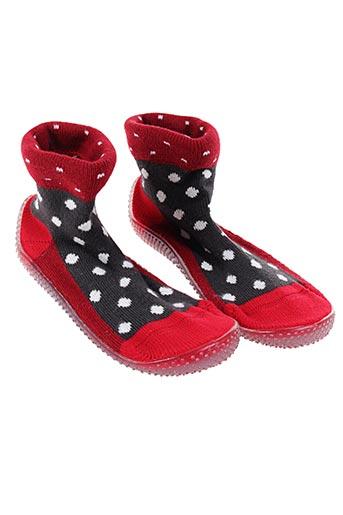 Chaussons/Pantoufles rouge BERTHE AUX GRANDS PIEDS pour enfant
