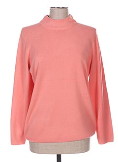 Pull col cheminée rose CASHMERE FEELING pour femme