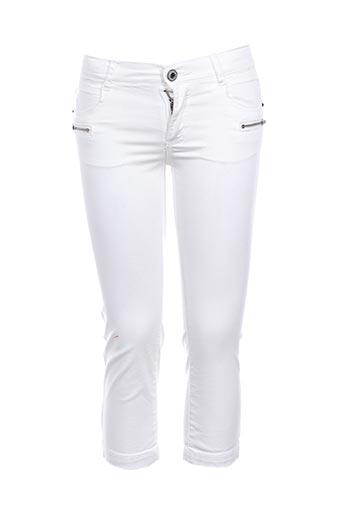 Pantalon casual blanc BECKARO pour fille