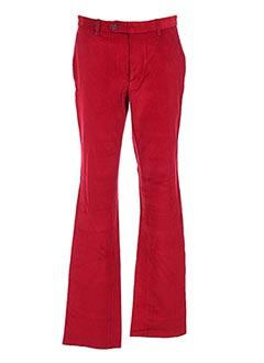 Pantalon casual rouge COSSERAT pour homme