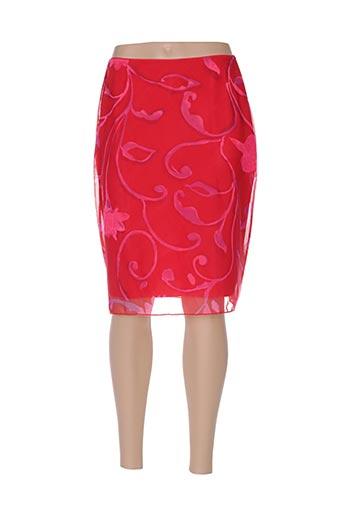 Jupe mi-longue rouge CROOL pour femme